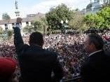 El presidente Chávez frente a una concentración popular. Foto: Prensa Miraflores