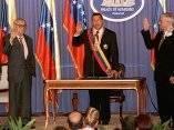 Chávez nombrando a su primer gabinete presidencial. Foto: AFP