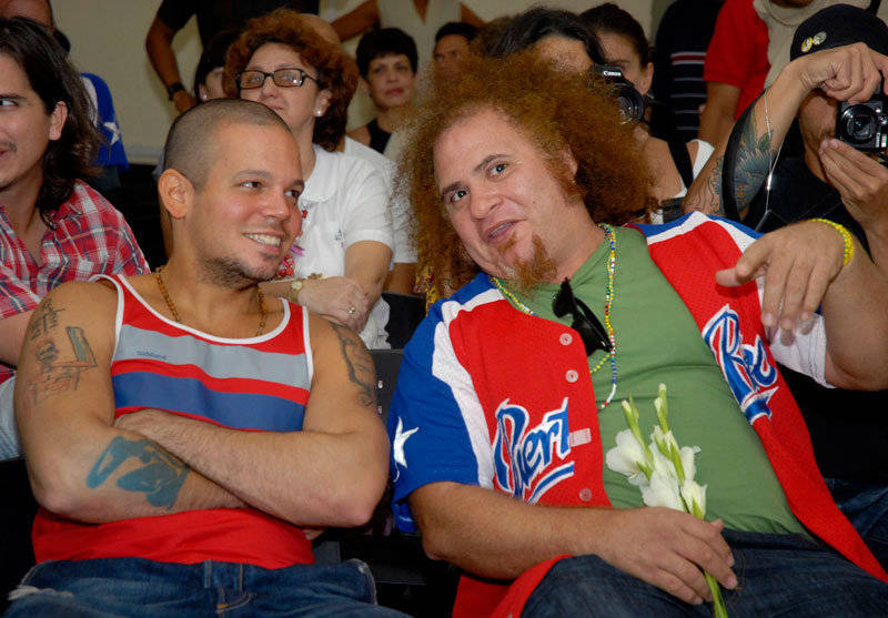 Residente Calle 13 y Kelvis Ochoa. Fotos Cubadebate.
