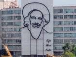 Escultura de Camilo en la Plaza de la Revolución