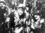 Fidel y el Che, en plena guerra, 1957.
