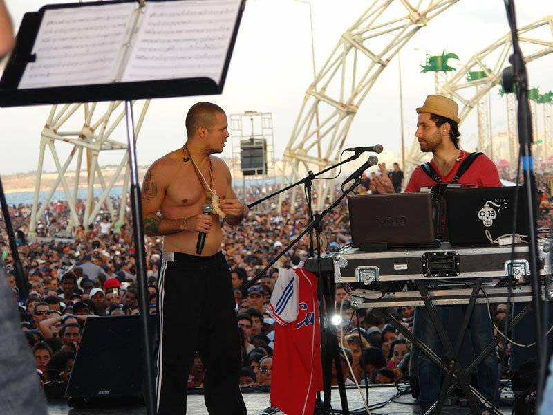 Residente y Visitante Calle 13 en concierto de la Habana, Cuba. Fotos Cubadebate