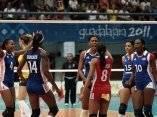 Las cubanas jugaron alegre el partido final de los juegos panamericanos.