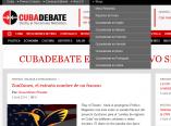 En el menú superior se despliega una lista con los blog de Cubadebate, entre ellos se destacan las páginas en idiomas Cubadebate (English), Cubadebate (Français), Cubadebate (Italiano), Cubadebate (Deutsch), Cubadebate (Português), Cubadebate (Россию) y Cubadebate (العربية). También los sitios de la Mesa Redonda y Las Razones de Cuba