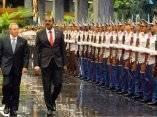 CUBA-LA HABANA-RECIBIMIENTO OFICIAL AL PRIMER MINISTRO DE ANTIGU