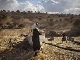 una-beduina-de-la-tribu-al-qiyaan-trabajando-afuera-de-su-casa-en-la-villa-umm-al-hiran-en-israel-el-5-de-diciembre-de-2013-uriel-sinaigetty-images