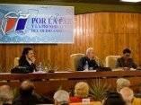 Fidel Castro con intelectuales en La Habana