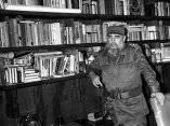Fidel Castro en su despacho, 23 de septiembre de 1990.