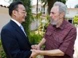Fidel Castro recibe a Wu Bangguo