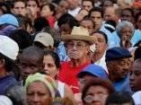 Participa Fidel en la celebración del 50 aniversario de la creación de los CDR. Foto: Ismael Francisco