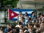 Fidel en la Universidad de la Habana. Foto: Roberto Chile