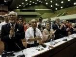 Fidel se reúne con los integrantes del Crucero por la Paz