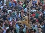 El público festeja la obtención del título de Campeón de la 56 Serie Nacional de Béisbol que se juega en el estadio Mártires de Barbados, en Granma, el 22 de enero de 2017. ACN FOTO/ Osvaldo GUTIÉRREZ GÓMEZ