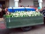 Cortejo fúnebre que traslada el féretro del Comandante de la Revolución, Juan Almeida Bosque