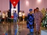 Diplomaticos rinden Homenaje a Juan Almeida Bosque, Memorial José Marti
