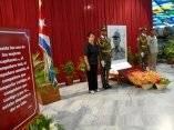 Homenaje a Juan Almeida Bosque en el Salón de los Vitrales, Plaza de la Revolución Antonio Maceo, Santiago de Cuba (Foto AIN)