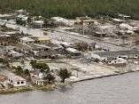La inundación (vista aérea) Huracán Ike