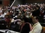 En el público se encontraba el héroe de Cuba, Fernando González, vicepresidente del ICAP. Conferencia Internacional Jose Marti. Palacio de las Convenciones, Cuba. Foto: José Raúl Concepción/Cubadebate.