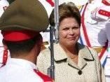 Llegada de Dilma Rousseff