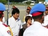 Llegada de Evo Morales