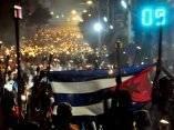 Marcha de las Antorchas en la que participaron dirigentes de la CELAC