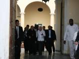 A la salida del Arzobispado