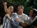 Antonio Guerrero,  Ramon labañino y Fernando Gonzalez  heroes cubanos, cantan en un centro cultural de la capital cubana. Viernes 19 de diciembre 2014. Foto: Ismael Francisco/cubadebate.