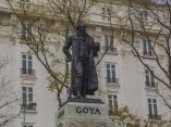 Escultura Monumento a Goya frente al Museo del Prado. La escultura está compuesta de bronce y marmol y data de 1902 realizada por Mariano Benlliure. Foto: Jennifer Romero/ Cubadebate.