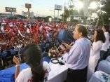 Multitudinaria marcha sandinista en apoyo a Daniel Ortega y al FSLN