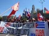 Miles marchan en Madrid contra el capitalismo