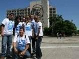 Preparativos en la Plaza de la Revolución José Martí para el Concierto Paz sin Fronteras (Foto JuanesLive)