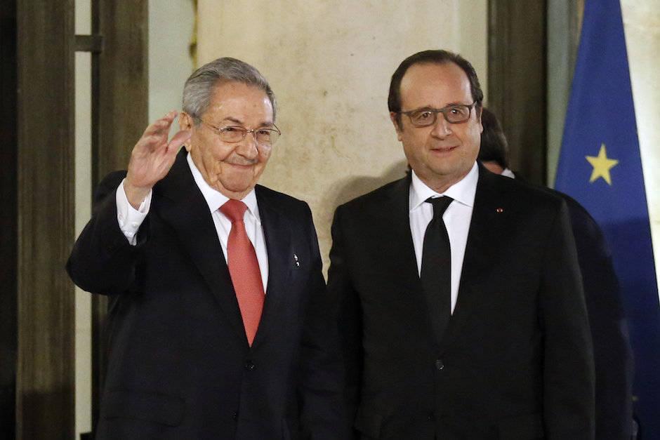 Declaración del presidente Raúl Castro a la prensa en Francia