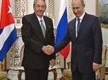 Raúl y Vladimir Putin