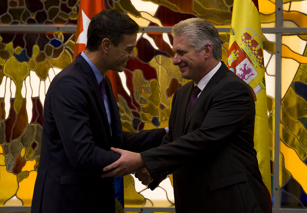 Díaz-Canel recibe al Presidente del Gobierno del Reino de España