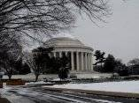 Washington bajo la nieve. Foto: Ismael Francisco/ Cubadebate