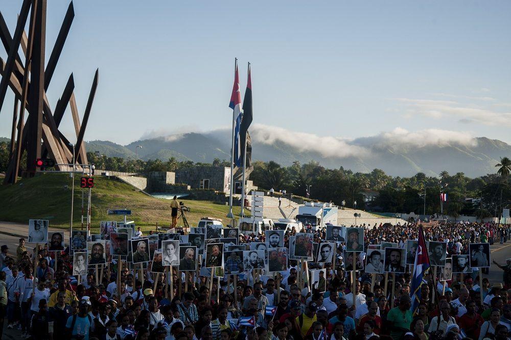 Eterno tributo a Fidel. Foto: Fernando Medina / Cubahora