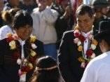 Toma de posesión indígena de Rafael Correa en Ecuador