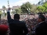 Toma de posesión de Rafael Correa en Ecuador