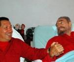 Fidel Castro y Hugo Chavez