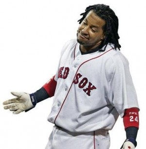 Manny Ramírez cuando jugaba con los Medias Rojas de Boston