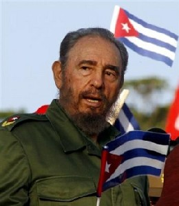 Fidel, el Primero de Mayo en la Plaza de la Revolución