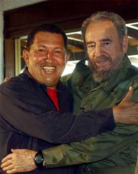 Fidel Castro y Hugo Chávez Frías