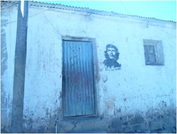 Una humilde casa de Cataricagua.