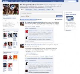 NO al Golpe de Estado en Honduras en Facebook<a rel=