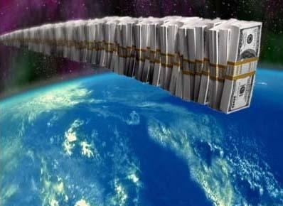 Un fajo de billetes de 1.000 dólares con 48 billones llegaría desde Nueva York hasta Tijuana, pasando por Los Ángeles (Transfotografía de Abbé Nozal)