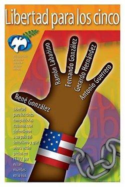 Afiche por la libertad de Los Cinco