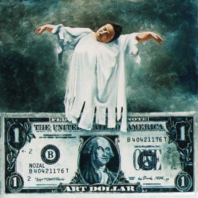 Wall Street, de Abbé Nozal, 1999 (óleo sobre lienzo)