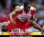 Dayron Robles durante su participación en los Juegos Olímpicos de Beijing