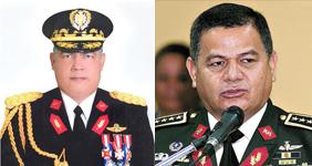 General Luis Javier Prince Suazo (izquierda) y General Romeo Vásquez (derecha)