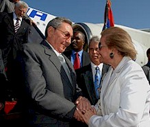 El Presidente Raúl Castro llega a Egipto a asistir a la XV Cumbre de los paises No Alineados